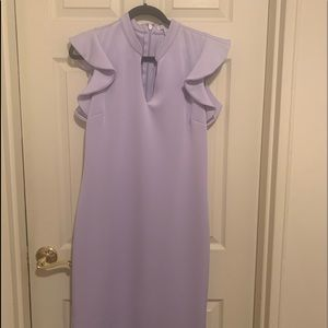 Lilac sheath dress
